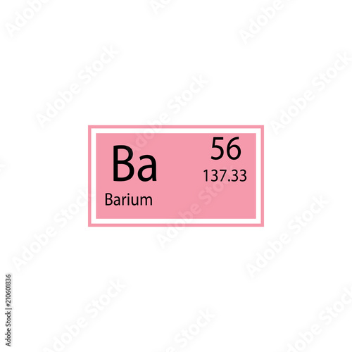Periodic Table Element Barium Icon Element Of Chemical Sign Icon