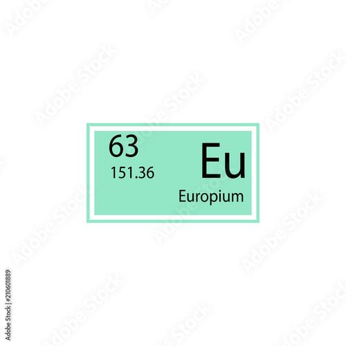 Periodic table element europium icon element of chemical sign icon periodic table element europium icon element of chemical sign icon premium quality graphic design urtaz Image collections
