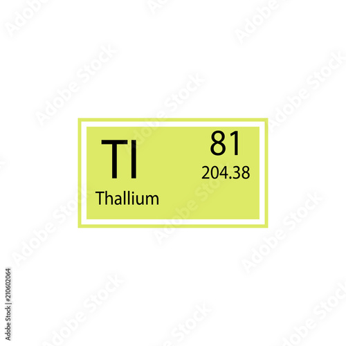 Periodic Table Element Thallium Icon Element Of Chemical Sign Icon