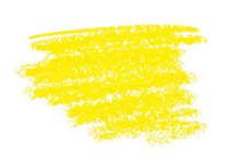 Wax Crayon Paint Strokes Isolated On White