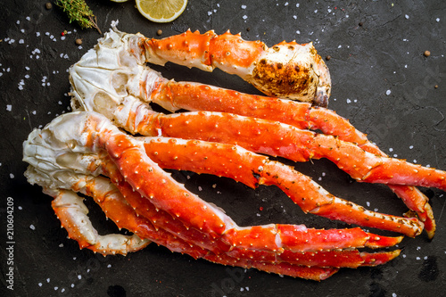 Photo King crab claws