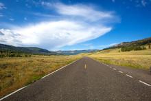 Road Along Yellowstone National Park