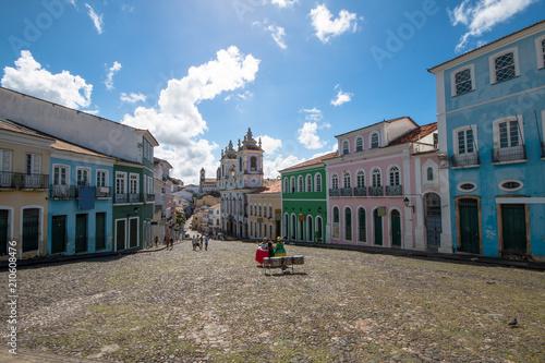 Fotografie, Obraz  Streets of Pelourinho, Salvador Bahia Brazil