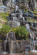 Waterfall In Glacier National ...