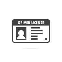 Driver License Icon Vector Tra...