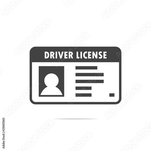 Cuadros en Lienzo  Driver license icon vector transparent