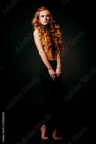 Foto op Canvas Akt full length female portrait