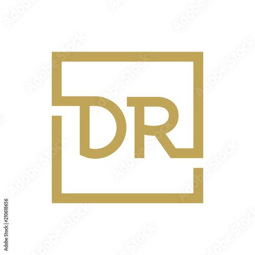 Canvas Print two letter logo line square DA TO DZ