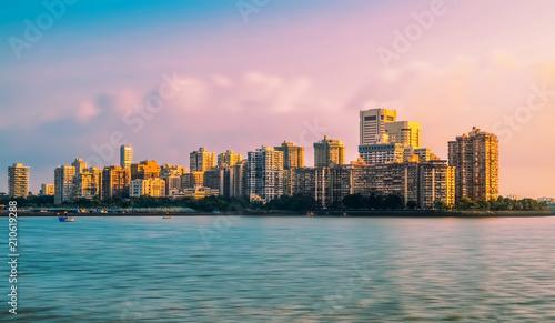 Fototapeta premium Widok na panoramę Bombaju widziany z Colaba