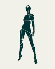 Sexy Women Silhouettes. Female...