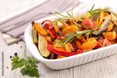 roasted vegetable and rosemary Fototapeta