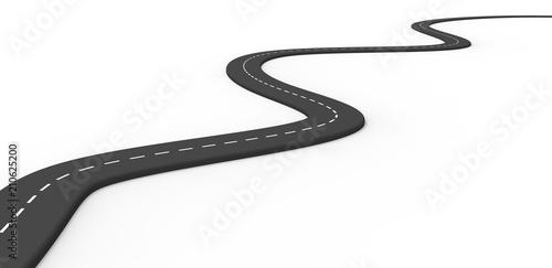 fototapeta na ścianę 3d road isolated