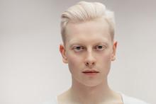 Fashion Albino Model Man Portr...