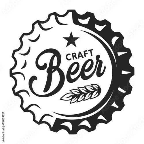 Fototapeta Vintage beer cap logo obraz