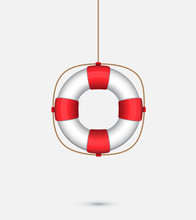 Life Saver Ring Hanging From A...