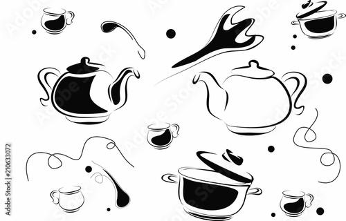 Fotografía  посуда, графика