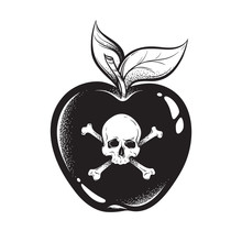 Poison Apple Line Art And Dot ...
