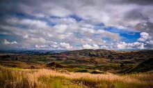 Landscape Of Kratke Mountain Range Around Ramu River And Valley, Eastern Highlands Province, Papua New Gunea