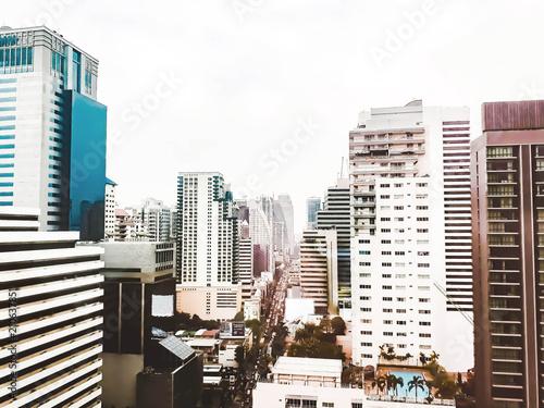 Fototapety, obrazy: cityscape of bangkok, bangkok Thailand, cityscape of bangkok with beautiful sky, bangkok city