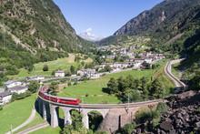Viaduct Of Brusio, Unesco World Heritage. Bernina Express