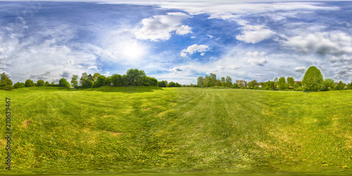 Fotografia  A Spherical 360 degrees seamless panorama view in equirectangular projection, panorama of natural landscape in Germany
