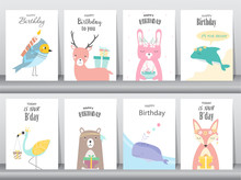 Set Of Birthday Invitations ...