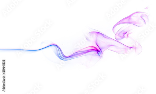 Fotobehang Rook Colored smoke on white background