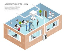 Office Conditioning System Illustration