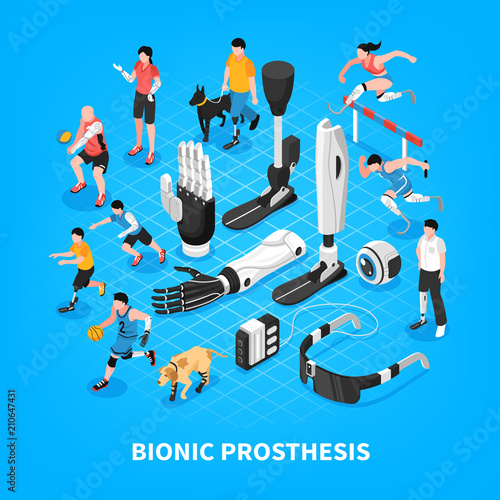 Fotomural Bionic Prothesis Isometric Composition