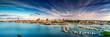 canvas print picture - Rostock Stadthafen Panorama