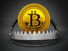 Gold Digital Coin In Ready Bea...