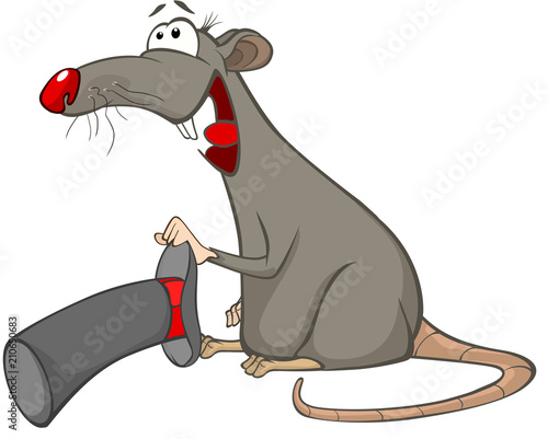 In de dag Babykamer Illustration of a Cute Rat. Cartoon Character