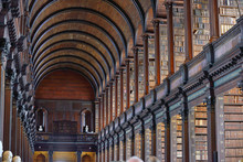The Long Room In The Old Library, Trinity College, Dublin, Ireland