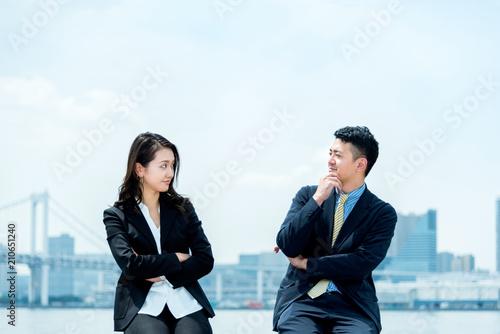 Photo 見つめ合う・ビジネスイメージ・男女
