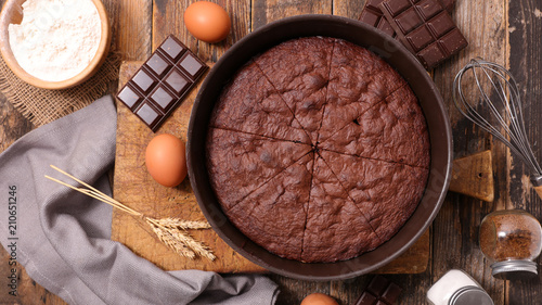 delicious chocolate cake Canvas Print