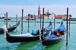 Venedig, Gondeln vor San Giorgio Maggiore