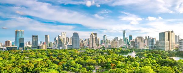 Pogled na grad Bangkoka odozgo na Tajlandu