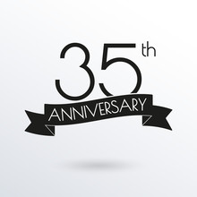 35 Years Anniversary Logo With...