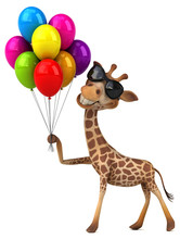Fun Giraffe - 3D Illustration