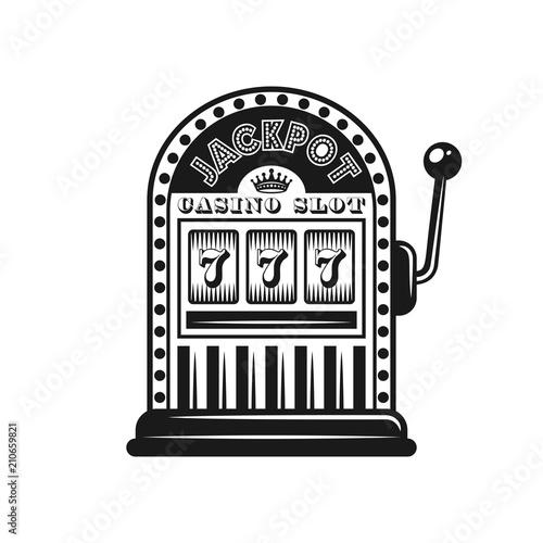 Casino slot machine vector monochrome style object Stock Vector | Adobe Stock