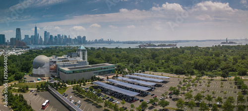 Valokuvatapetti Aerial of Jersey City New Jersey
