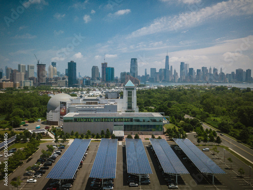 Aerial of Jersey City New Jersey Wallpaper Mural