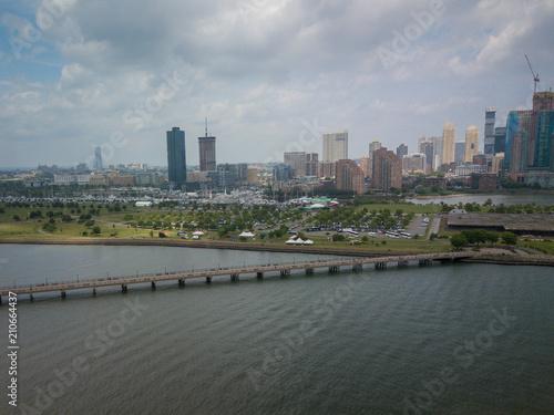 Valokuva  Aerial of Jersey City New Jersey