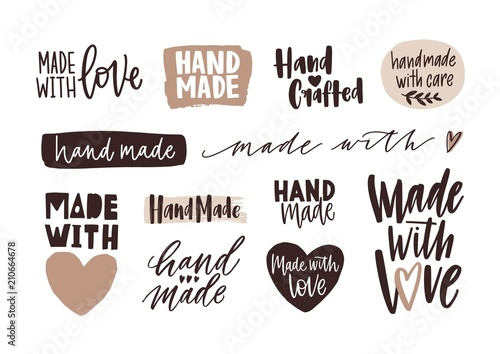 Photo Bundle of Hand Made letterings for labels or tags of handcrafted goods