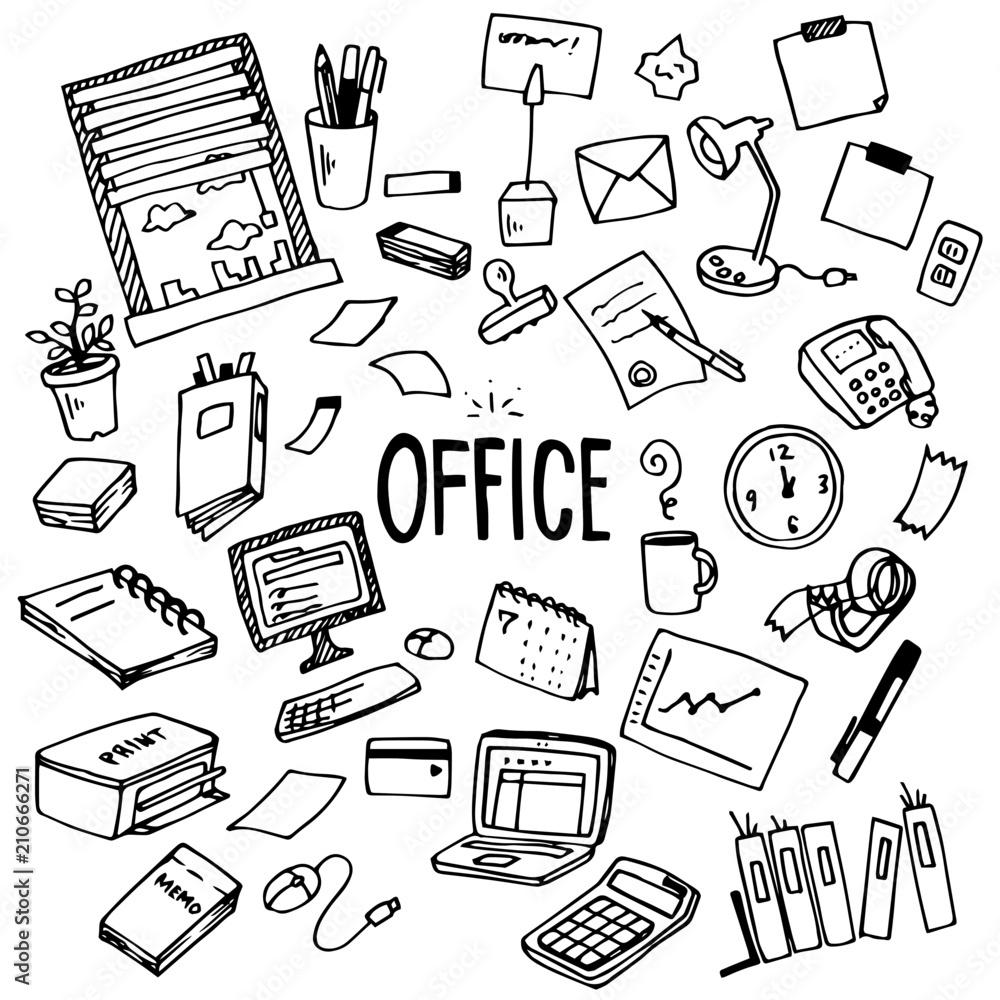 Fototapeta Office Illustration Pack