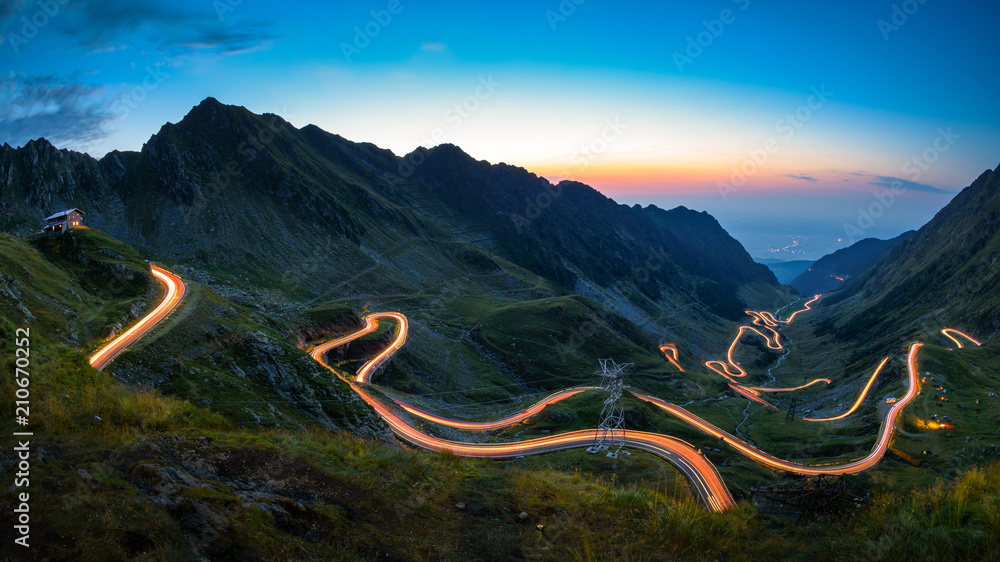 Fototapeta Transfagarasan road, most spectacular road in the world