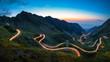 Leinwandbild Motiv Transfagarasan road, most spectacular road in the world