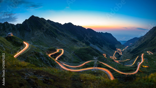 Door stickers Black Transfagarasan road, most spectacular road in the world
