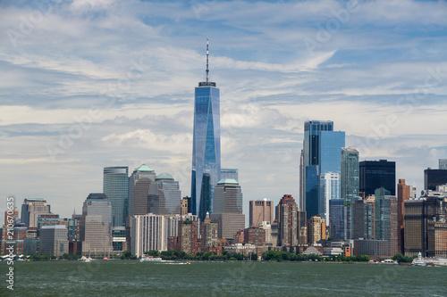 Photo  New York City , Lower Manhattan View of One World Trade Center and Surrounding S