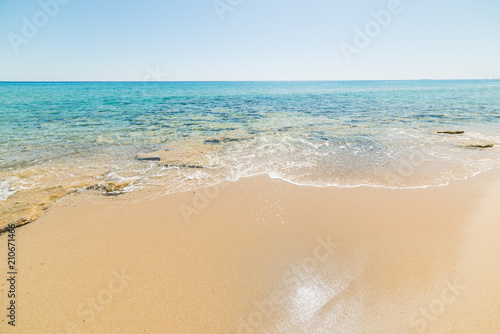 Deurstickers Strand Golden shore in Piscina Rei beach